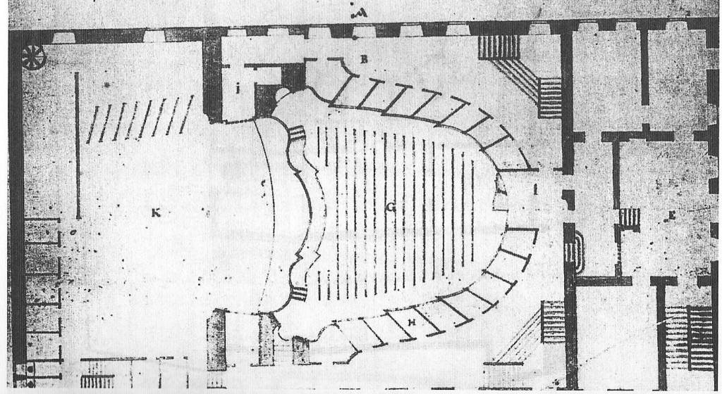 Teatro Rossi - particolare di pianta